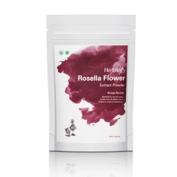 Herbilogy Hibiscus flower (Rosella) Extract Powder 100g
