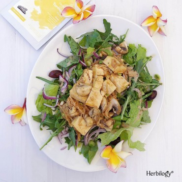 Warm Turmeric Tofu Salad