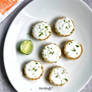 Turmeric Coconut Lime Tarts