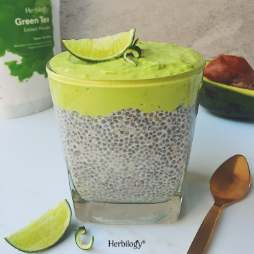 Green Tea Lime Chia Pudding