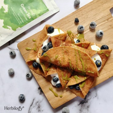 Green Tea Vegan Crepes